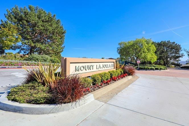 Mount La Jolla Community Sign